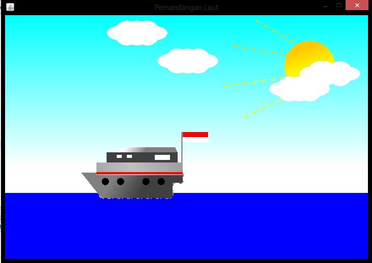 Source Code Animasi Kapal Laut Three Cahyas Blog